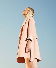"""Double wool cloth reversible coat Two-tone """"Nude"""" Pink /""""Blush"""" Pink Woman 202MP211A-01"""