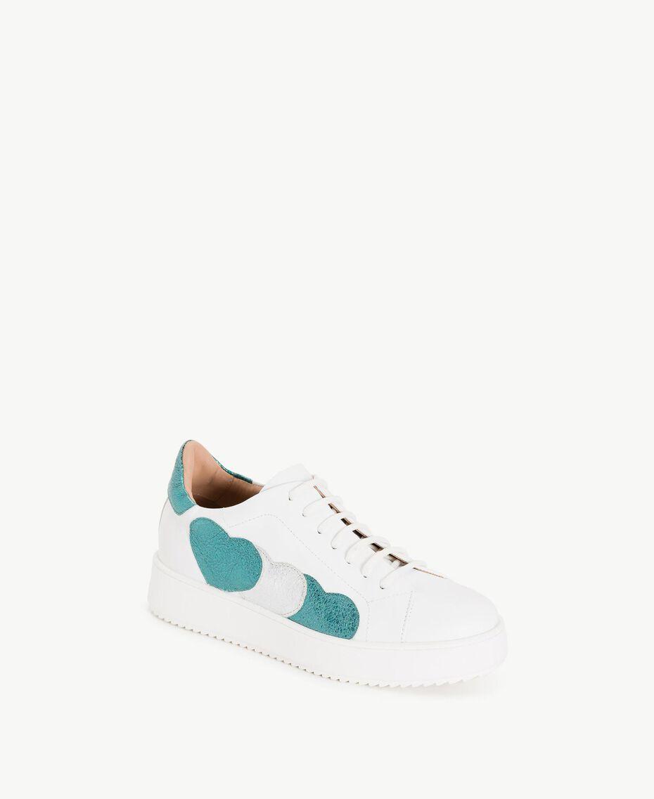 TWINSET Sneaker mit Herzen Weiß Frau CS8PNC-02