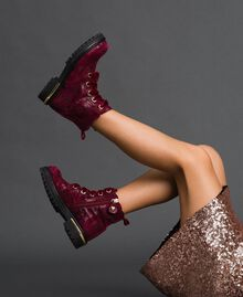 Laminated leather ankle boots Laminated Ruby Wine Print Child 192GCJ042-0S