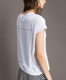 Trompe-l'oeil T-shirt White Woman 191MT2418-03