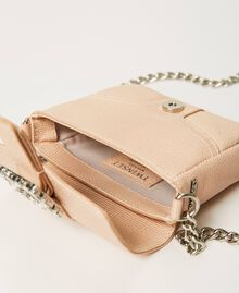 "Small Rebel shoulder bag with jewel buckle ""Nude"" Beige Woman 202TB7140-06"