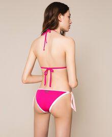 Colour block triangle bikini Multicolour Candy Pink / Shocking Pink / Optical White Woman 201LMMH22-03