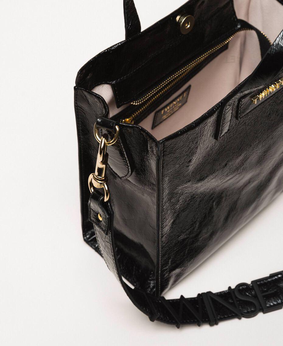 """Средняя кожаная сумка-шоппер с логотипом Розовый """"Джаз"""" женщина 201TO8091-05"""