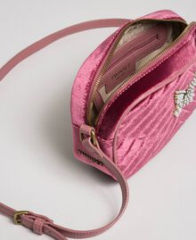 Velvet shoulder bag with butterfly Dusty Pink Woman 192TA7091-04