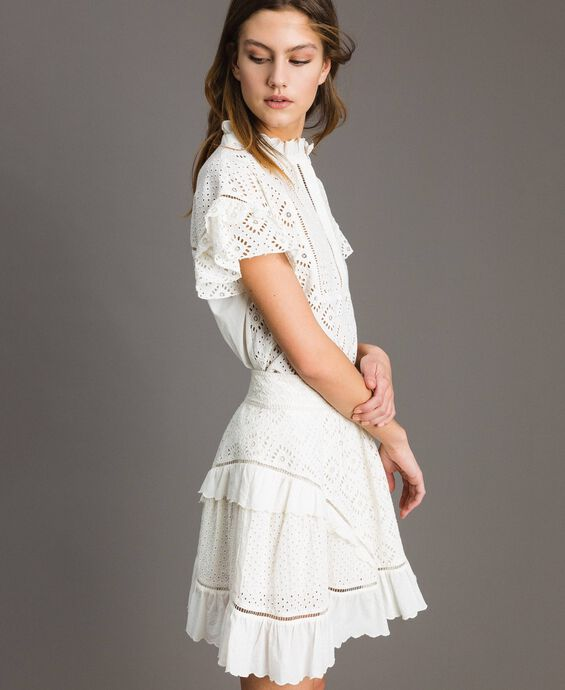 Broderie anglaise full mini skirt