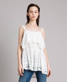 Embroidery and lace top Off White Woman 191MT2271-02