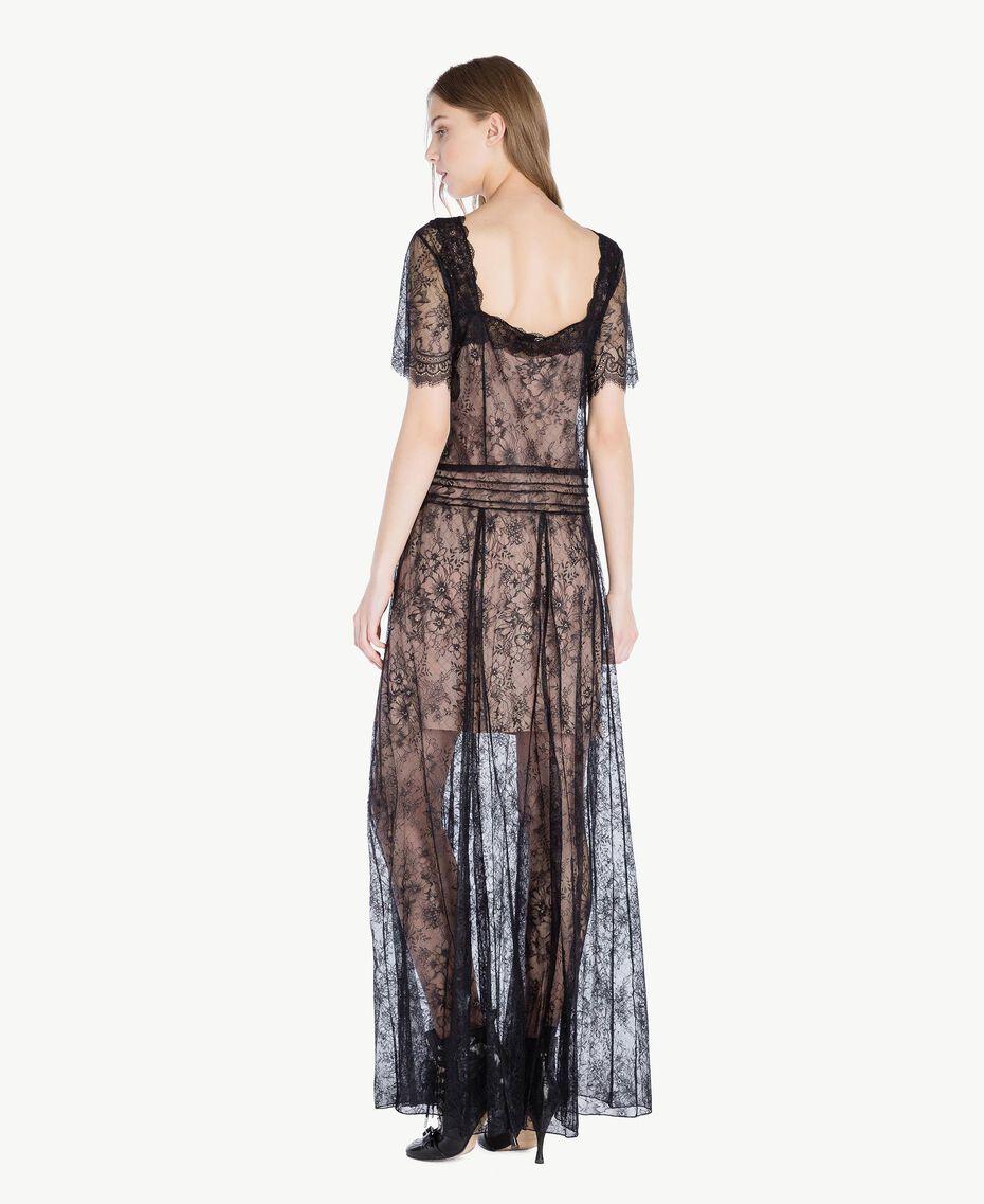 Long lace dress Black Woman PS821F-03