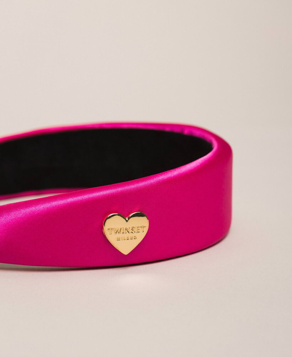 """Satin Alice band with heart """"Jazz"""" Pink Woman 201TO530J-02"""