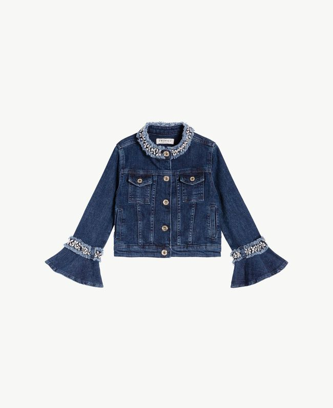 "Embroidered jacket ""Mid Denim"" Blue Child GS82W2-01"