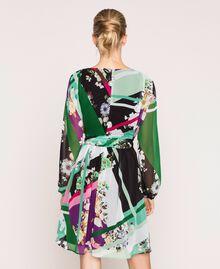 Vestido de georgette estampado Estampado Fular Negro Mujer 201MP2362-03