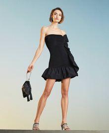 Атласная сумка со стразами Черный женщина 211TD8221-0S