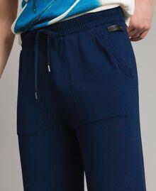 Jogginghose aus Baumwollmischung Blackout Blau Mann 191UT3083-05
