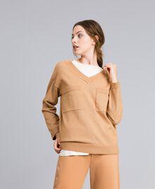 "Lurex yarn jumper ""Amber Dust"" Brown Woman IA82LL-01"