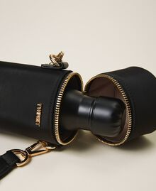 Trinkflaschenset mit Tasche aus technischem Satin Schwarz Frau 202TD8086-02
