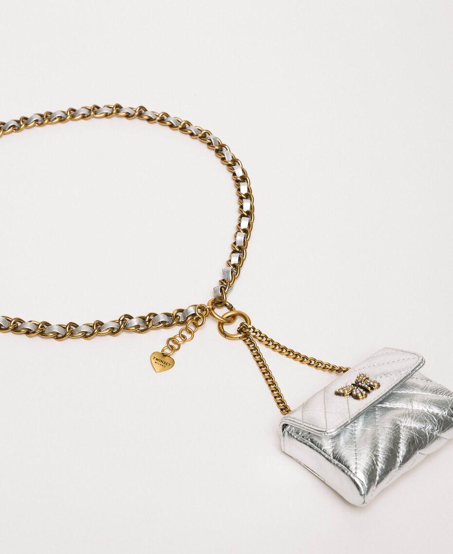 Цепочечный пояс с сумочкой Серый Титан женщина 201TA4347-02