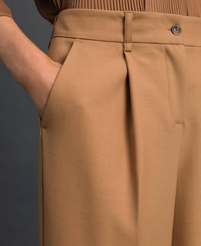 Pantalon en laine technique Camel Femme 192TT2452-04