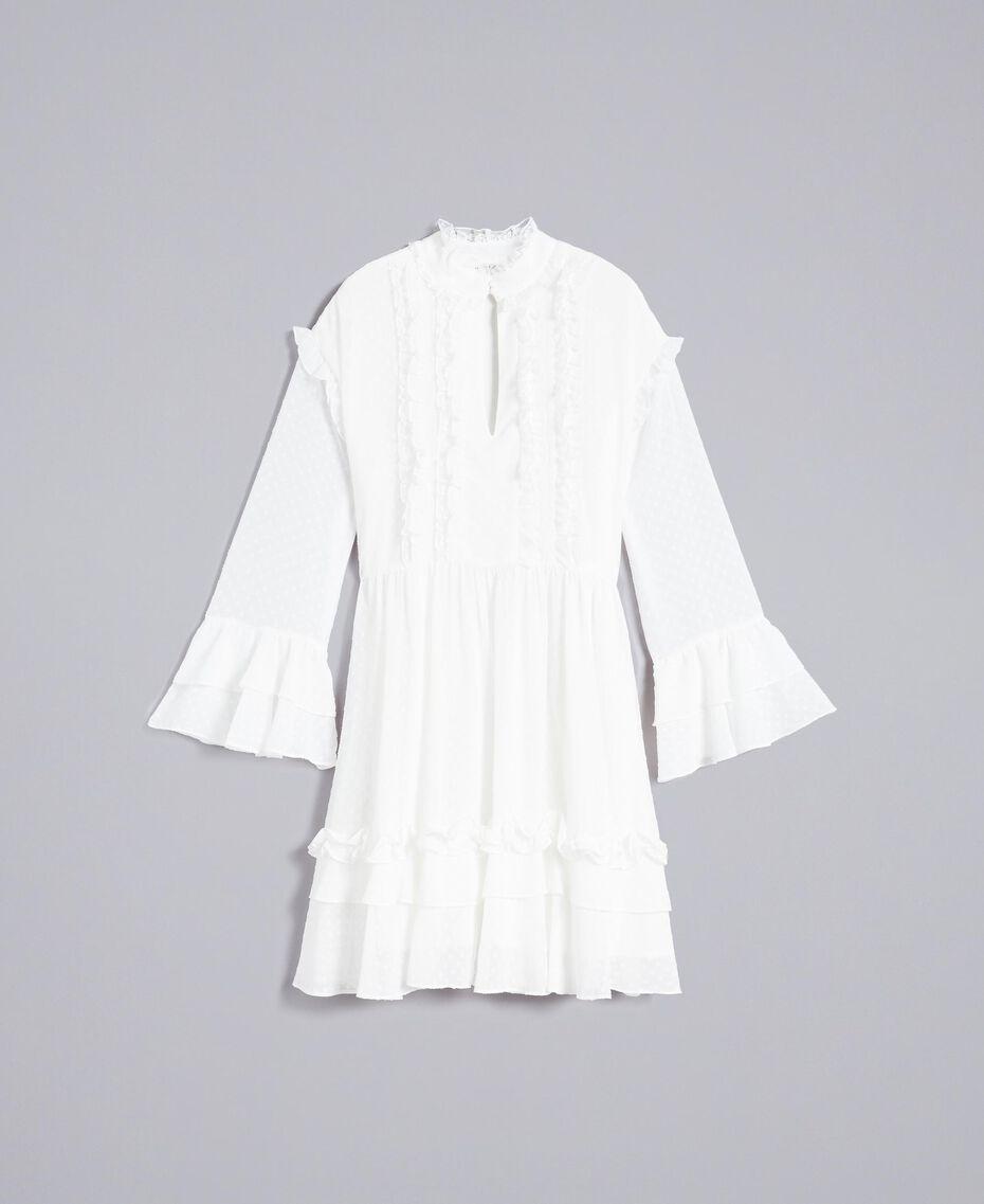 Kleid aus Fil Coupé Perlmutt Frau SA82GA-0S