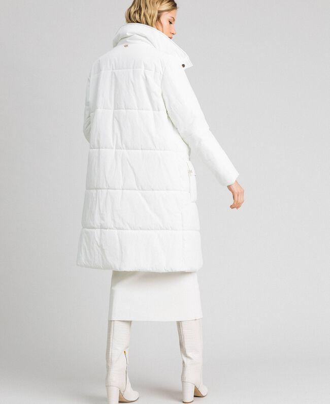 Long puffer jacket with high neck Ivory Woman 192LI2JAA-03