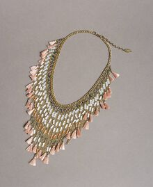 "Necklace with beaded fringes ""Rose Sand"" Pink Woman 191TO5340-01"