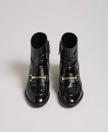 Patent leather ankle boots Black Woman 192TCP122-05