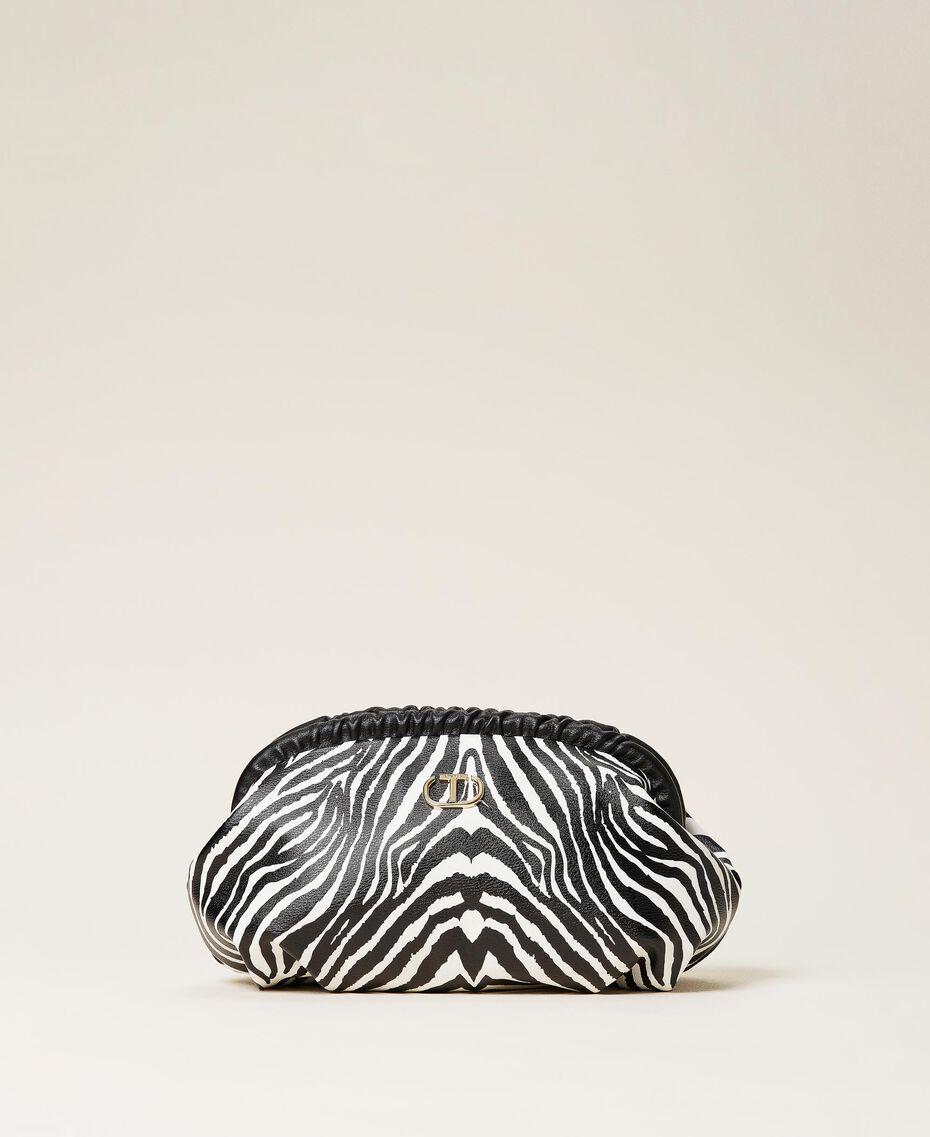 Soft clutch bag with animal print Zebra Print Woman 212TB7231-01