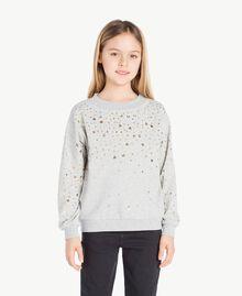 Sweat-shirt clous Gris clair chiné Enfant GS82G2-02