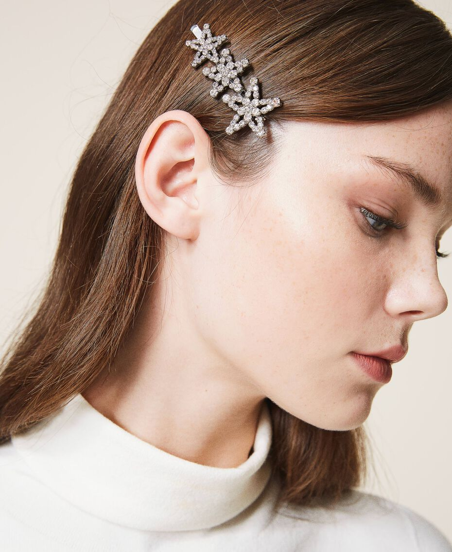 Hair pin with rhinestone stars Crystal Woman 202TA430L-0S