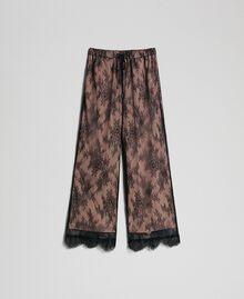 Pantaloni a palazzo in pizzo Nero Donna 192TP258E-0S