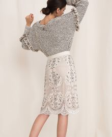 Lace skirt with embroidery Ivory Woman 201TP2464-03