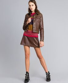 Pullover aus Moulinégarn in Color-Block-Verarbeitung Mehrfarbiger Mouliné Frau YA831B-0T