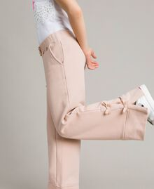 Palazzo trousers with bows Blossom Pink Child 191GJ2033-02