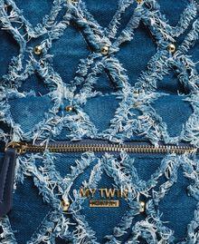 """Rucksack mit Denim-Patchwork-Effekt """"Arabian Blue"""" Blau Frau 191MA7080-04"""