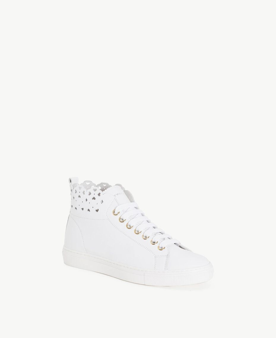TWINSET Scalloped sneakers White Woman CS8TFU-02