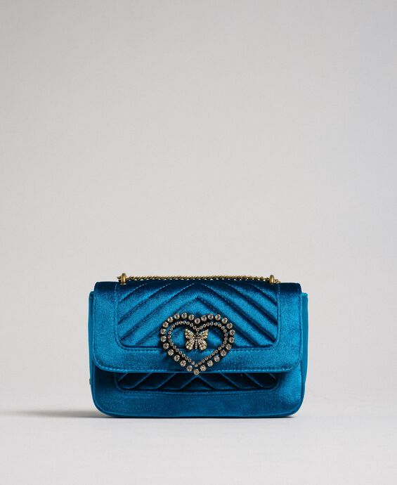 Small velvet shoulder bag