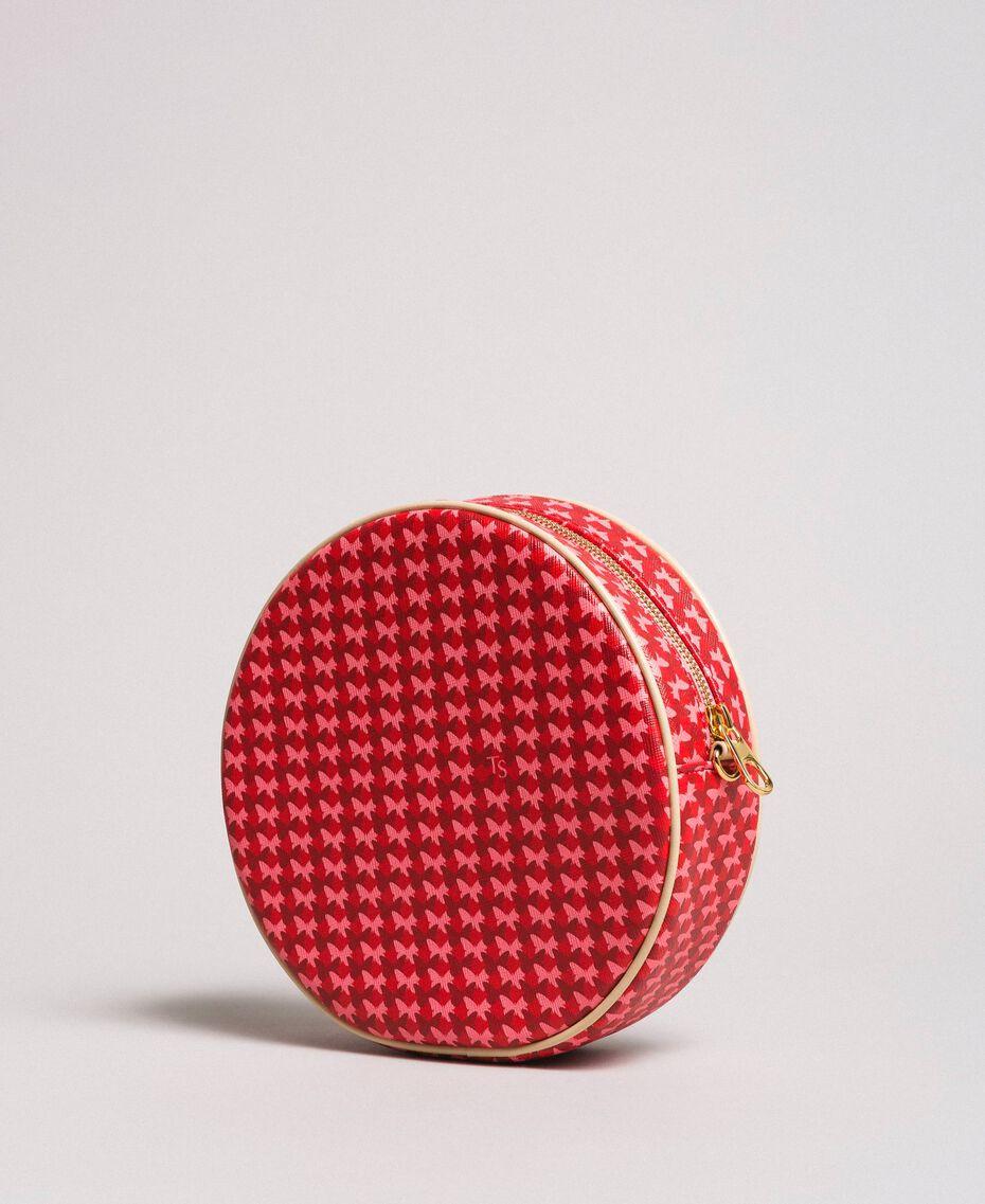 "Butterfly print shoulder bag ""Ruby"" Red Butterflies Print Woman 191TA7175-03"