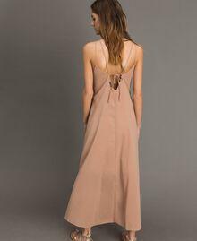 """Robe longue avec bretelles fines Marron """"Grès de Pétra"""" Femme 191LM2HAA-03"""