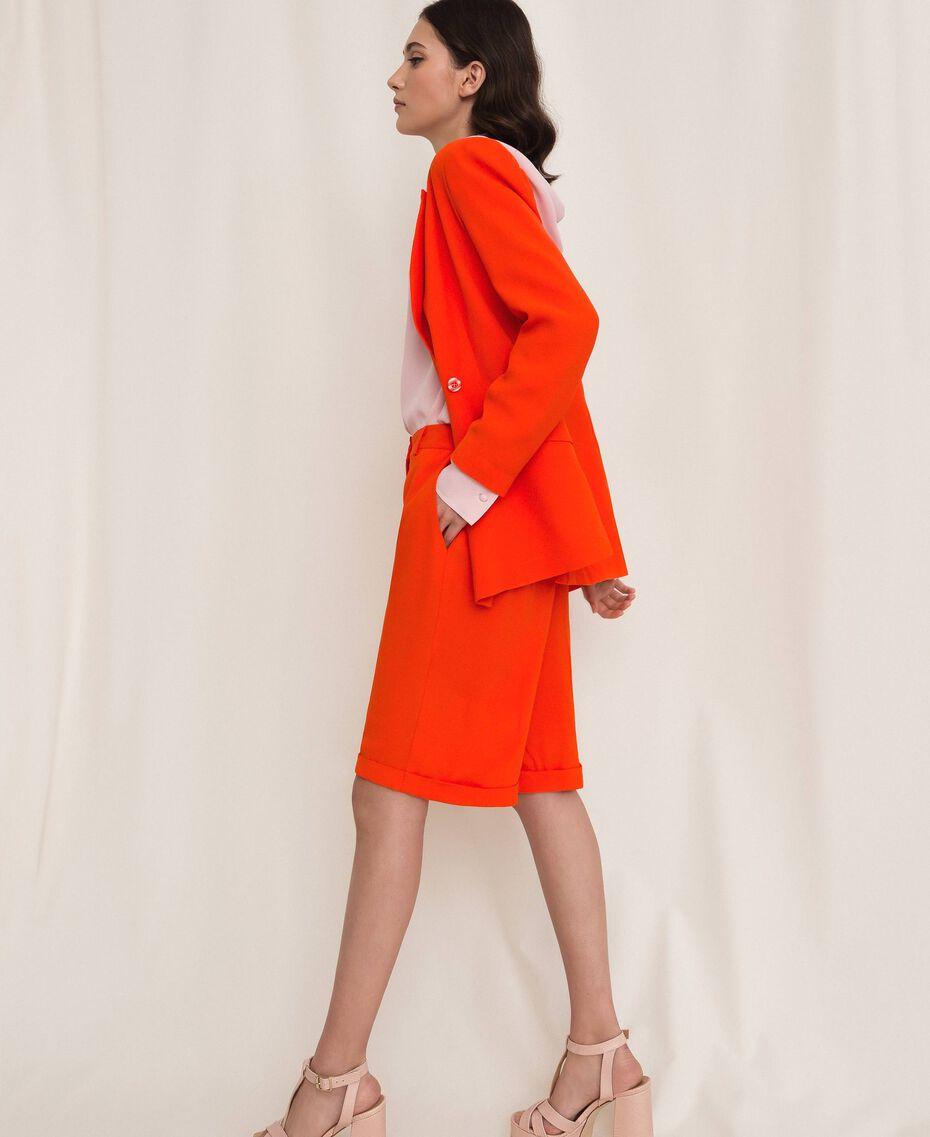 Bermuda en crêpe georgette Orange «Ace» Femme 201LL2NDD-02