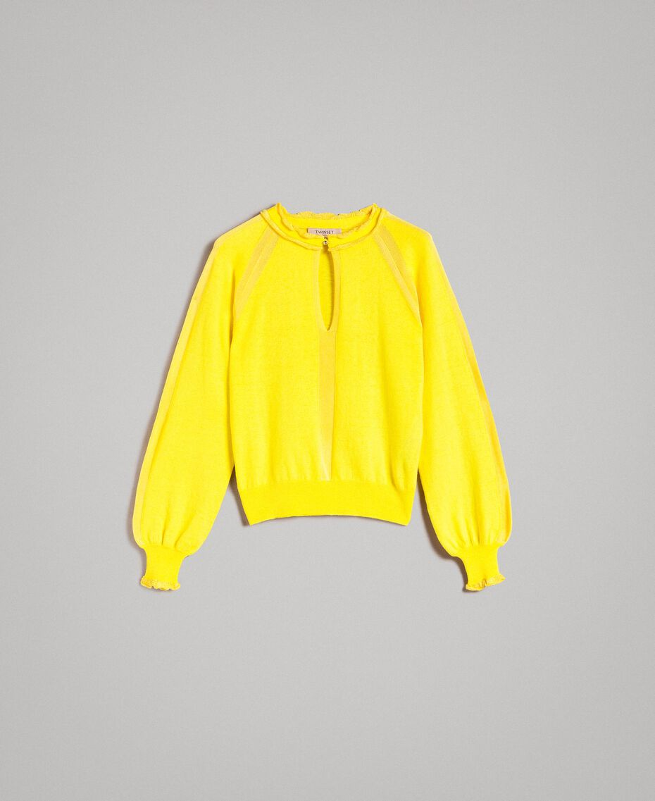 Cashmere mix top Yellow Woman 191TP3060-0S