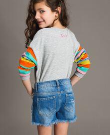 "Jeans-Shorts mit Stickerei Mittleres ""Denimblau"" Kind 191GJ2481-04"