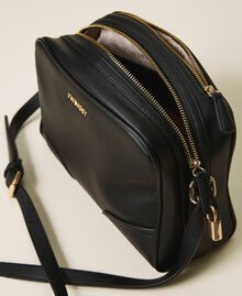 Shoulder bag with dual compartment Black Woman 202TB7032-05
