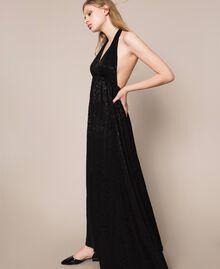 """Длинное платье с жаккардовым цветочным рисунком Оранжевый """"Витаминный"""" женщина 201LB2HAA-03"""