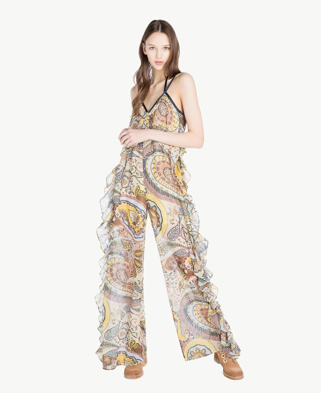 Printed jumpsuit Paisley Print Woman SS82MF-01
