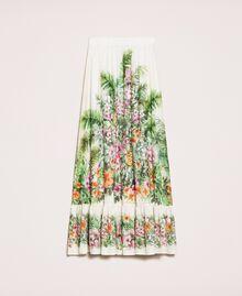 Jupe longue avec imprimé floral Imprimé Jungle Fleurs Neige Femme 201TT2484-0S