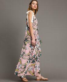 """Robe longue en georgette à imprimé floral Imprimé Exotique """"Rose Doux"""" Femme 191ST2223-02"""