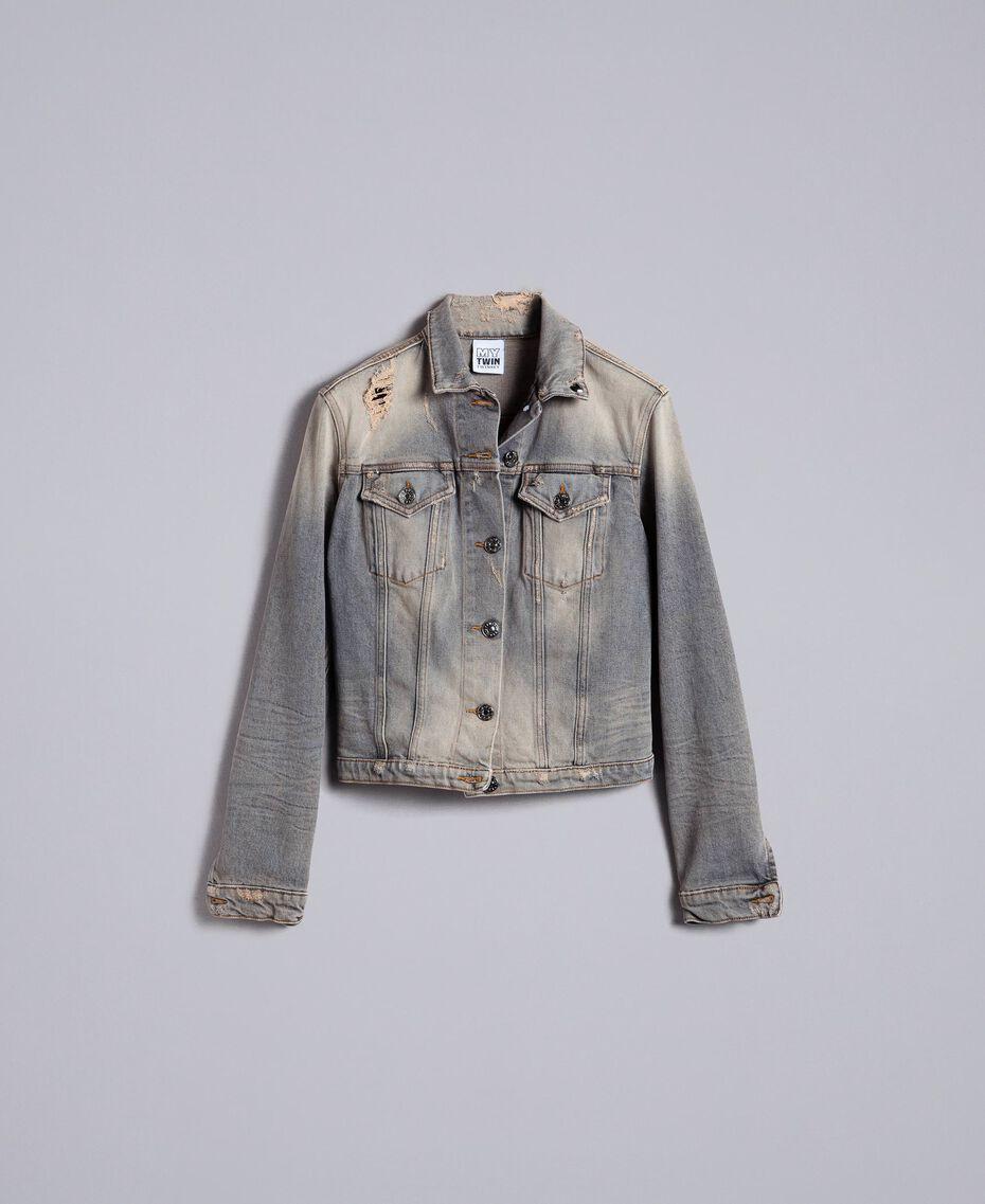 Jacke aus Denim Denim-Grau Frau JA82YC-0S