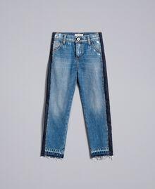 "Slouchy-Jeans mit Kontraststreifen Mittleres ""Denimblau"" Kind GA82VA-01"