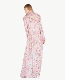 Robe longue imprimée Multicolore Fleurs Quartz Rose Femme JS82NQ-03