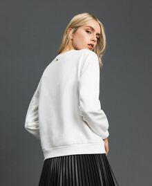 Sweat avec logo brodé Blanc Vanille Femme 192MT2302-03