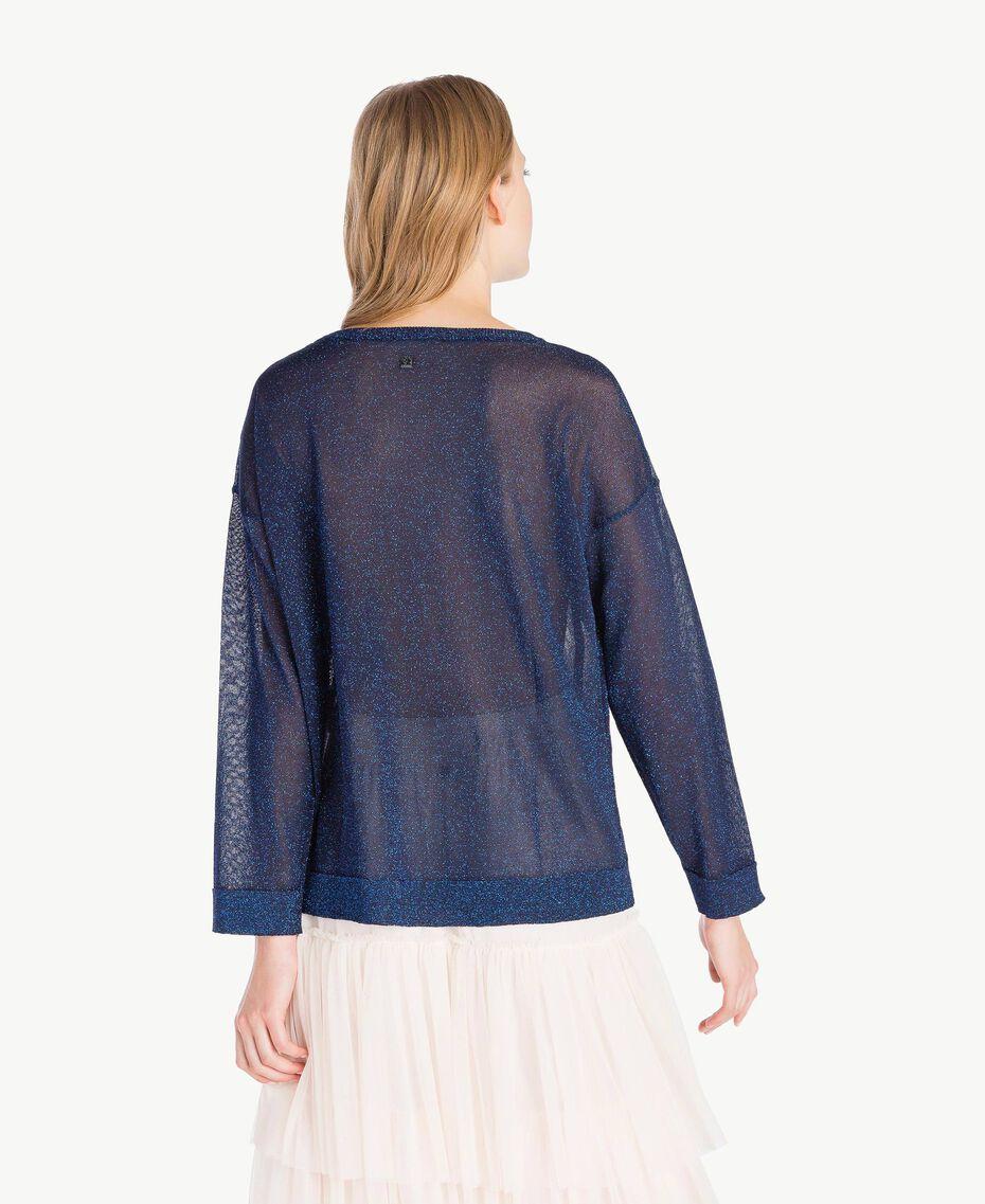 Lurex knit top Royal Blue Lurex Woman PS83Y1-03