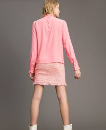 """Rüschen-Bluse aus Seidenmischung """"Wild Rose"""" Pink Frau 191TP2135-04"""